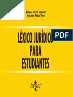 Ortiz Sanchez Mónica - Léxico Jurídico Para Estudiantes