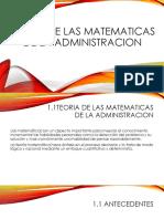 Teoria de Las Matematicas de La Administracion