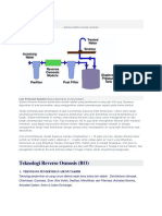 Skema Sistem Reverse Osmosis