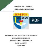 Peraturan Akademik SMP N 1 Mejayan