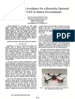 Haptic Collision Avoidance for a Remotely Operated Quadrotor UAV in Indoor Environments