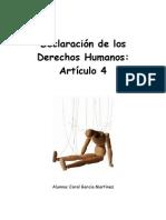 Articulo 4 Esclavitud Def