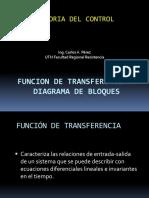 Teoria Del Control Funcion Transferencia y Bloques