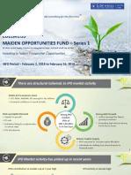 Edelweiss Maiden Opportunities Fund Presentation Jan 2018