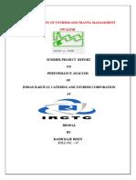 Project Rprt on Irctc