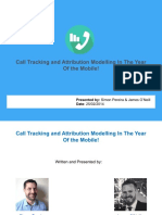 Call Tracking and Attribution Modelling In The Year Of the Mobile