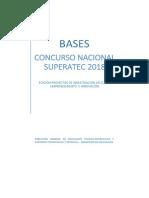 Bases Concurso Nacional Superatec 2018 PROYECTOS