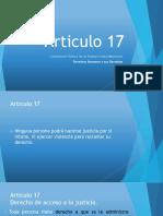Artículo 17 Constitucional