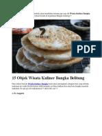 15 Objek Wisata Kuliner Bangka Belitung