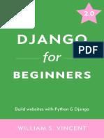 Django for Beginners Learn Web Development With Django 2.0