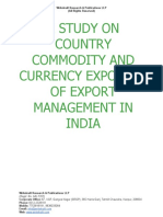 A Study on Country Commodity and Currency Exposure of Export Management in India [www.writekraft.com]