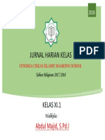 Cover Jurnal Harian Kelas