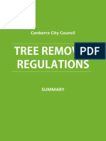 Tree Removal Canberra Council Regulations - Summary[1]