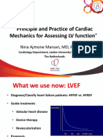 Principle and Practice of Cardiac Mechanic for Assessing LV Function