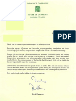 Letter From Cameron
