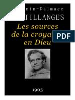 Sertillanges, A.-d. - Les Sources de La Croyances en Dieu (1905)