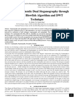 Secure and Authentic Dual Steganography through HLSB with Blowfish Algorithm and DWT Technique