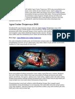 Agen Casino Terpercaya 2018