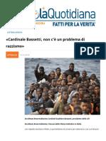 Caro Cardinal Bassetti, Non C'e Un Problema Di Razzismo