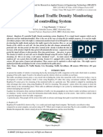 Raspberry Pi Based Traffic Density Monitoring and controlling System
