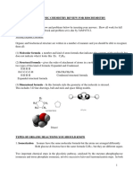 Organic Review Worksheet and Problem Set