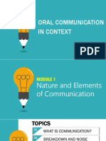Lesson 1 Nature and Elements of Communication