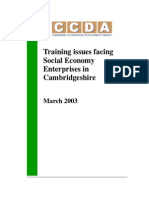 Training Issues for Local Social Enterprises