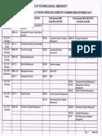 First and Third Sem Nov Date Sheet
