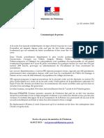 Communiqué de presse d'Édouard Philippe
