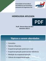 Aula 10 Evapotranspiração 2012-1
