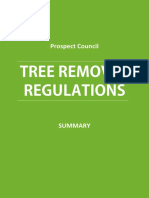 Tree Removal Prospect Council Regulations - Summary