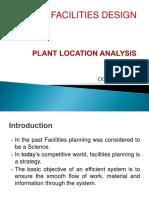 Plant Location Analysis