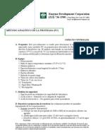 MÉTODO ANALÍTICO DE LA PROTEASA (PC)
