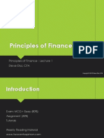 principles of finance