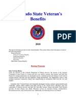 Vet State Benefits - CO 2018