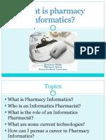 what is pharmacyinformatics