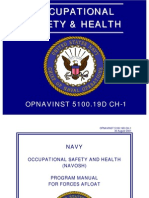 Opnavinst 5100.19 Navy Occupational Safety and Health Program