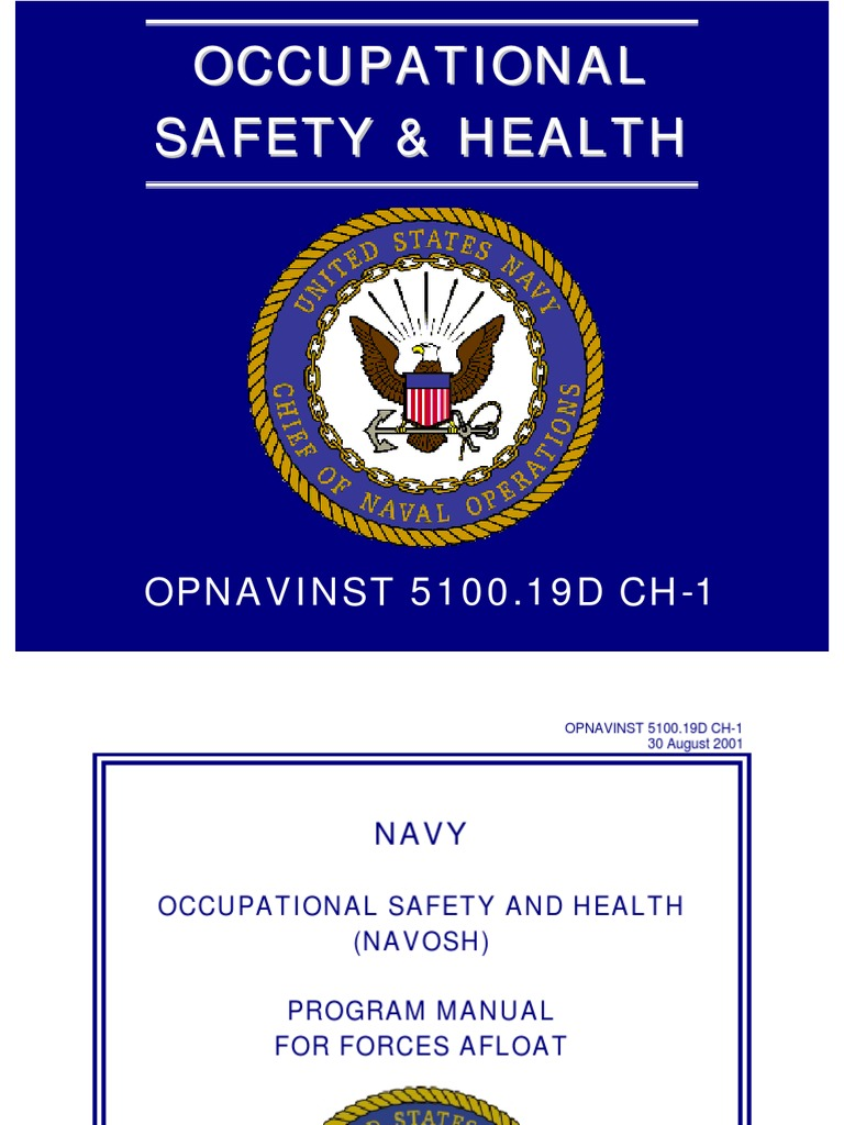 Opnavinst 5100.19 Navy Occupational Safety and Health ...