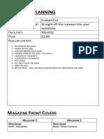 Magazine Planning