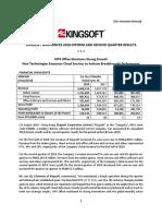 [Press Release] Kingsoft Announces 2018 Interim and Second Quarter Results