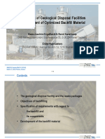Backfilling of Geological Disposal Facilities – Development of Optimized Backfill Material - WM2018 Conference, Phoenix, Arizona