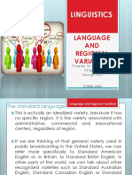 Chapter 18 Language and Regional Variation