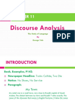 Chapter 11 - Discourse Analysis