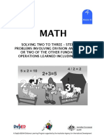 Math 4 Dlp 43 - Solving Two to Three – Step Word Problems Involving Division and Any One or Two o