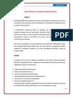 c) Especificaciones Tecnicas y Sistema Constructivo