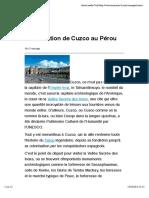 Présentation de Cuzco au Pérou