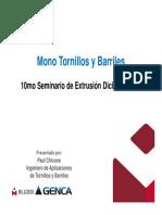 Seminario de polímeros Tornillos y Barriles Milacron