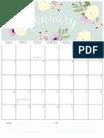 Calendar Blog 2019