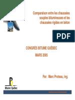Comparaison Entre Les Chaussees Souples Bitumineuses Et Les Chaussees Rigides en Beton