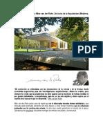 La Casa Farnsworth de Mies Van Der Rohe